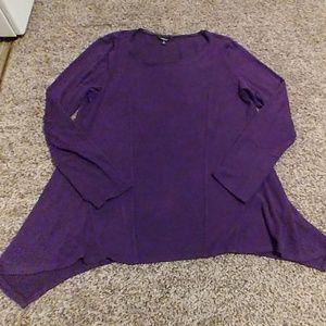 Comfy purple pullover sweater